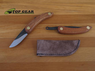 Svord MINI Peasant Pocket Knife with wooden Handle and Leather Sheath - PK-M