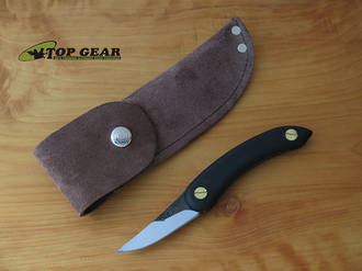 Svord Leather/Suede Belt Sheath for Chip Thwitel Whittling / Peasant Knife, Brown - PKS