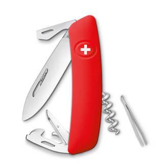 Swiza D03 Pocket Knife with Locking Blade, Red - KNI.0030.1000