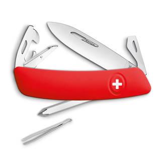 Swiza D04 Pocket Knife with Locking Blade, Red - KNI.0040.1000