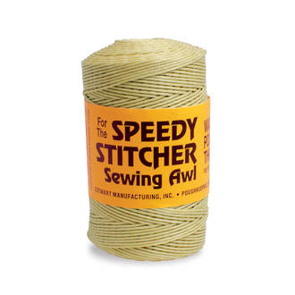 The Speedy Stitcher Coarse Waxed Polyester Thread for Sewing Awl - 150