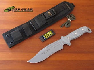 Tops Combat Survival Bowie II Knife, 1095 High Carbon Steel - CBB-02