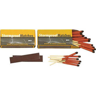 UCO Windproof and Waterproof  Matches, 2-Pack, 50 Pieces - MT-SM2-UCO