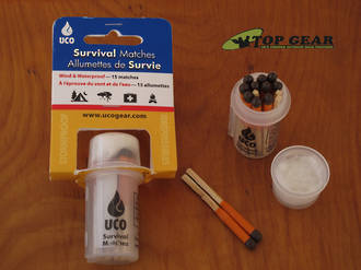 UCO Wind And Waterproof Survival Matches In Waterproof Case - MT-SV-CASE
