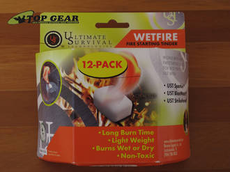 Ultimate Survival Wetfire Firestarting Tinder - 12 Pack 20-1WG0412-BX12