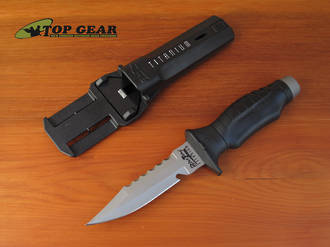 Underwater Kinetics Blue Tang Titanium Dive Knife - 300642
