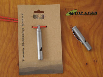 Vargo Titanium Emergency Whistle with Clip - 00434