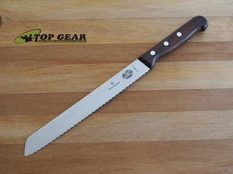 "Victorinox 10"" Bakers Bread and Pastry Knife with Rosewood Handle - 5.2930.26"