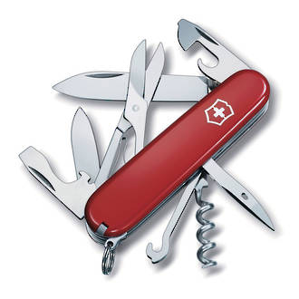 Victorinox Climber Swiss Army Pocket Knife, Red - 1.3703