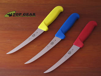 Victorinox Butchers Curved Boning Knife, 15 cm - Blue, Red or Yellow Handle