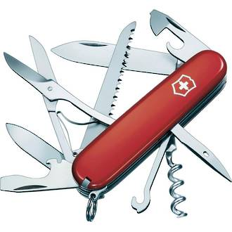 Victorinox Huntsman Swiss Army Pocket Knife, Red - 1.3713