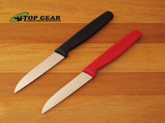 Victorinox Paring Knife with Straight Blade 8 cm - Black or Red