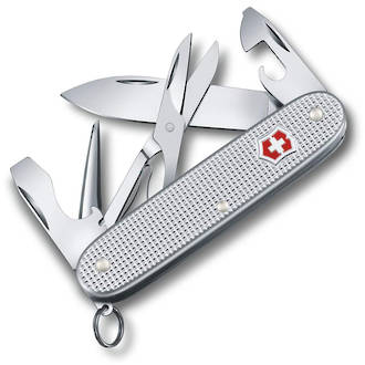 Victorinox PioneerX Alox Pocket Knife, Silver - 0.8231.25