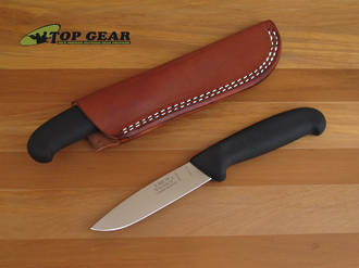 Victory Drop-Point Hunter Black Handle with Brown Leather Sheath - 3/303/10/200