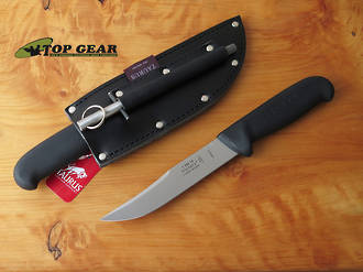 Victory Outdoor Knife, 15 cm, High Carbon Steel, Black Progrip Handle - 1/302/15/200B