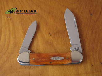 WR Case Canoe Pocket Knife with Chestnut Bone Handle - 28705