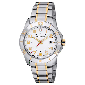 Wenger Mens Alpine Watch - Stainless Steel Bracelet 70477 PVD
