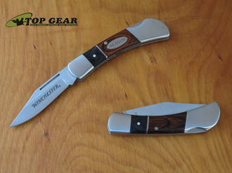Winchester Pocket Knife with Pakka Wood Handle - 22-41788