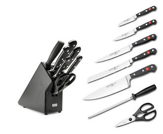 Wusthof Classic 7 Piece Knife Block Set, Black - 9837-200