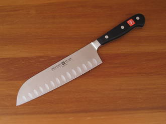 Wusthof Classic Santoku Knife, Hollow Edge - 4183/17cm