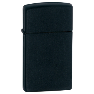 Zippo 1618 Slim Black Matte Windproof Lighter - 1618