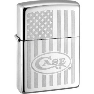 Zippo Case Brothers Lighter with Lustre Edged Flag - 50158
