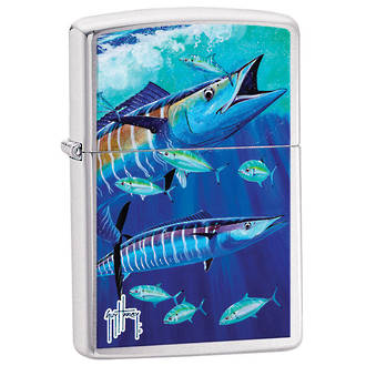Zippo Guy Harvey Hooknows Marine Life Windproof Lighter - 24820