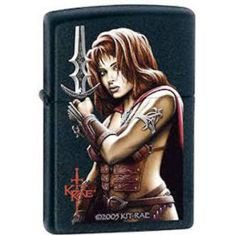Zippo Kit Rae Vaelen Windproof Lighter Black Matte - 24281