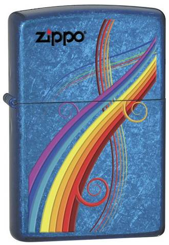 Zippo Rainbow Cerulean Windproof Lighter - 24806