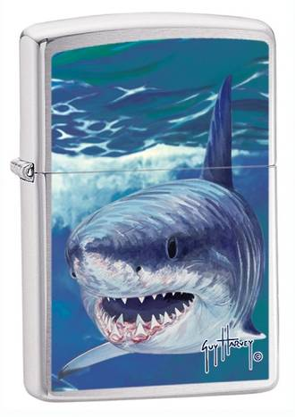 Zippo Guy Harvey Shark Windproof Lighter 21052
