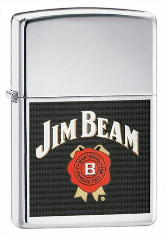 Zippo Jim Beam Logo Windproof Lighter 24552
