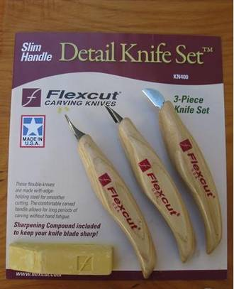 Flexcut Detail Carving Knife Set, 3 Pieces - KN400