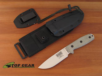 Esee 4 Knife with Molle Sheath System - Uncoated ESEE-4P-UC-MB