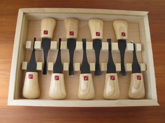 Flexcut Deluxe Palm Tool Set with 9 Tools - FR405