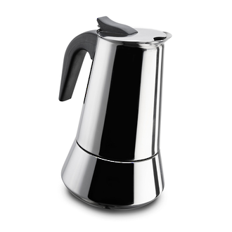 Pezzetti SteelExpress Stainless Steel Stovetop Espresso Coffee Maker 10 Cups - 10474