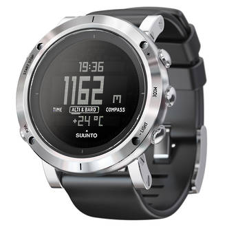 Suunto Core Sports Watch with Compass, Brushed Steel - SS020339000