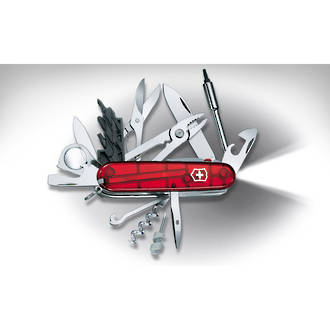 Victorinox Cybertool 34 Swiss Army Knife Ruby Red 1 7725 T