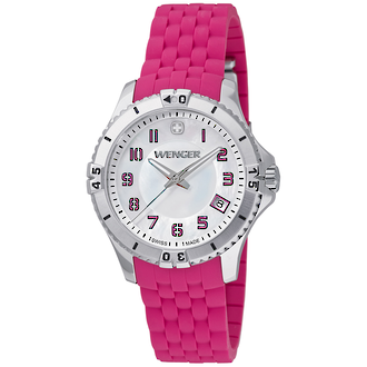 Wenger Squadron Lady Women Fashion Watch Pink Bracelet