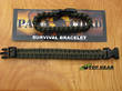 550 Paracord Survival Bracelet, Olive Green - S, M, L, XL