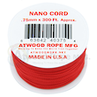 Atwood Rope Manufacturing Nano Cord. Red - 40005