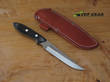 Bark River Adventurer Thistle Knife, A2 Tool Steel, Black Canvas Micarta Handle - 05-120M-BC
