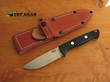 Bark River Bravo 1 Bushcraft Knife, A2 Tool Steel , Black Canvas Micarta Handle - 07-112M-BC