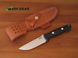 Bark River Bravo 1 Bushcraft Knife, A2 Tool Steel , Black Canvas Micarta Handle - 07-111M-BC