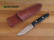 Bark River Gunny Hunter Knife, Black Linen Micarta Handle - Elmax Steel