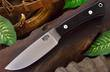 Bark River Highland Special Hunting Knife, A2 Tool Steel, Black Canvas Micarta Handle - 01-114M-BC