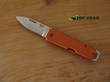 Bear and Son 110OR Slipjoint Pocket Knife, Aluminium Handle, Orange - 110OR