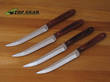 Bear and Son 4-Piece Steak Knife Set with Rosewood Handle 2STKR