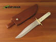 Bear and Son Frontier Bowie Knife with White Bone Handle - WSB01
