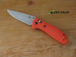 Benchmade Griptilian Knife, Drop-Point, CPM-S30V Stainless Steel, Orange Handle, Satin Finish - 551-ORG