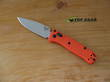 Benchmade Mini Bugout Folding Knife, S30V Stainless Steel, Orange Handle - 533
